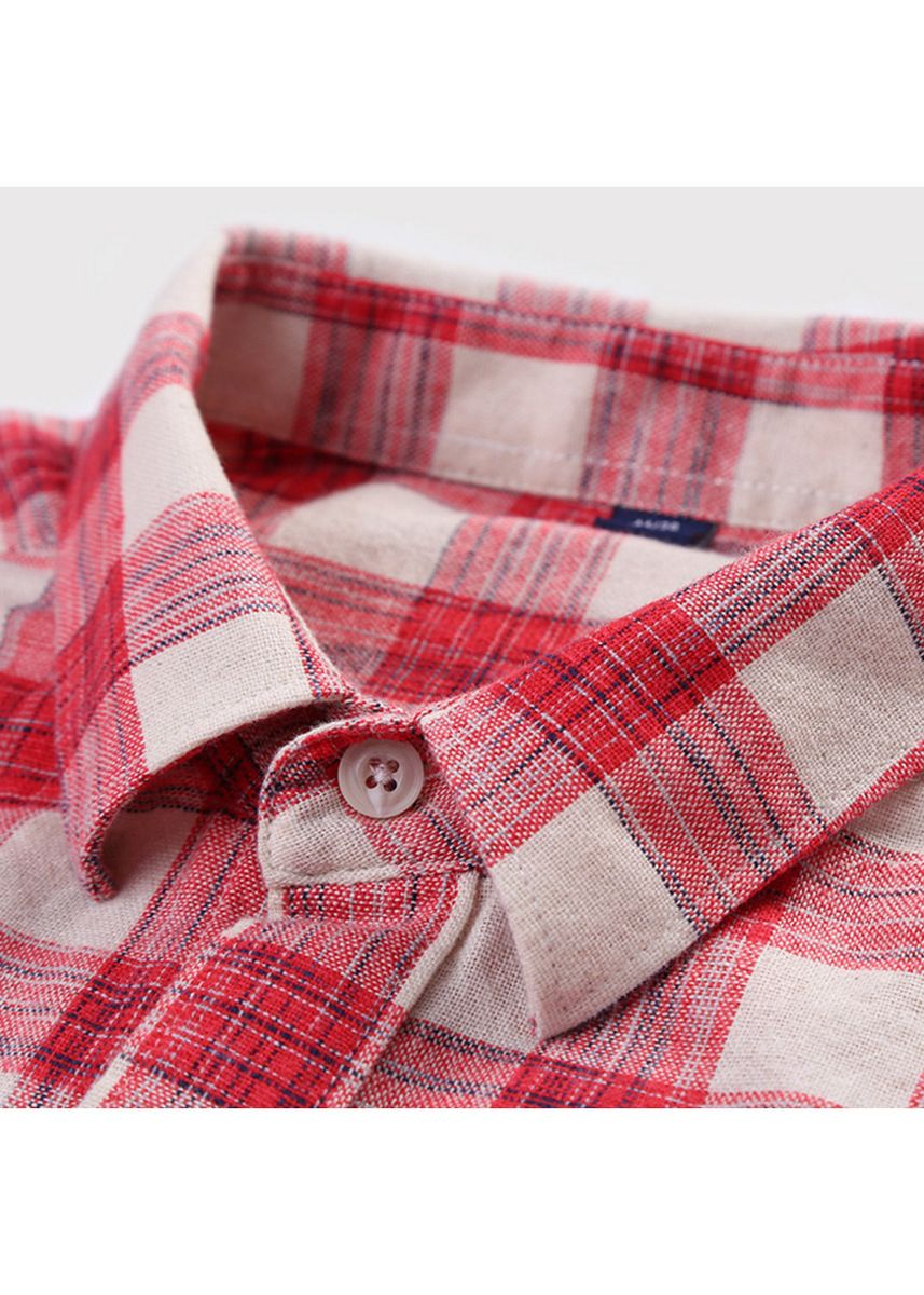 Red color Casual Shirts . Men's Long Sleeve Casual Shirts -
