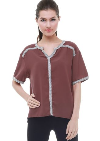 Red color Tops and Tunics . INSTYLE BY SURI  PERRY TOP  B16062 -