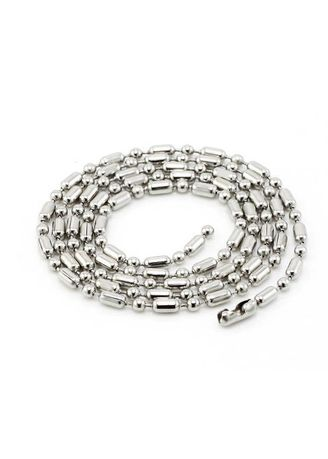 Stainless Steel Bamboo Chain Necklace - Unisex | Men's