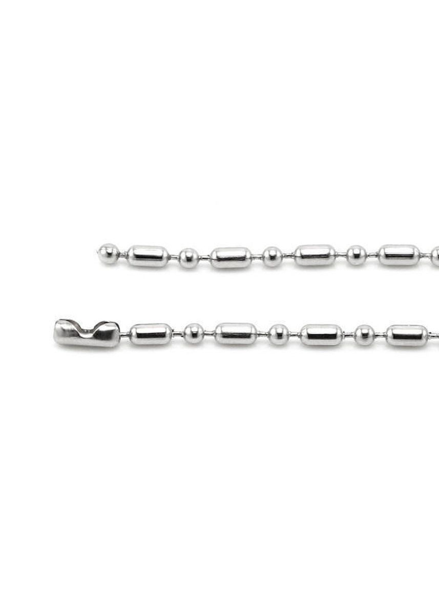 Silver color Necklaces . Stainless Steel Bamboo Chain Necklace - Unisex -