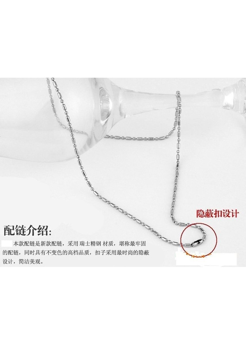 Silver color Necklaces . Stainless Steel Bamboo Chain Necklace 60cm -Unisex -