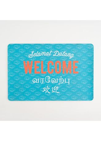 Blue color Home Decor . Racial Harmony Doormat -
