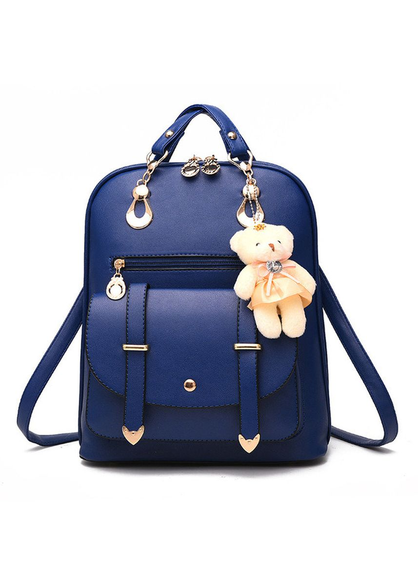 Navy color Backpacks . Korean Style Backpacks With Bear -