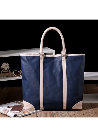 Navy color Hand Bags . Europe Style Simple Leisure Handbag - Large Size -