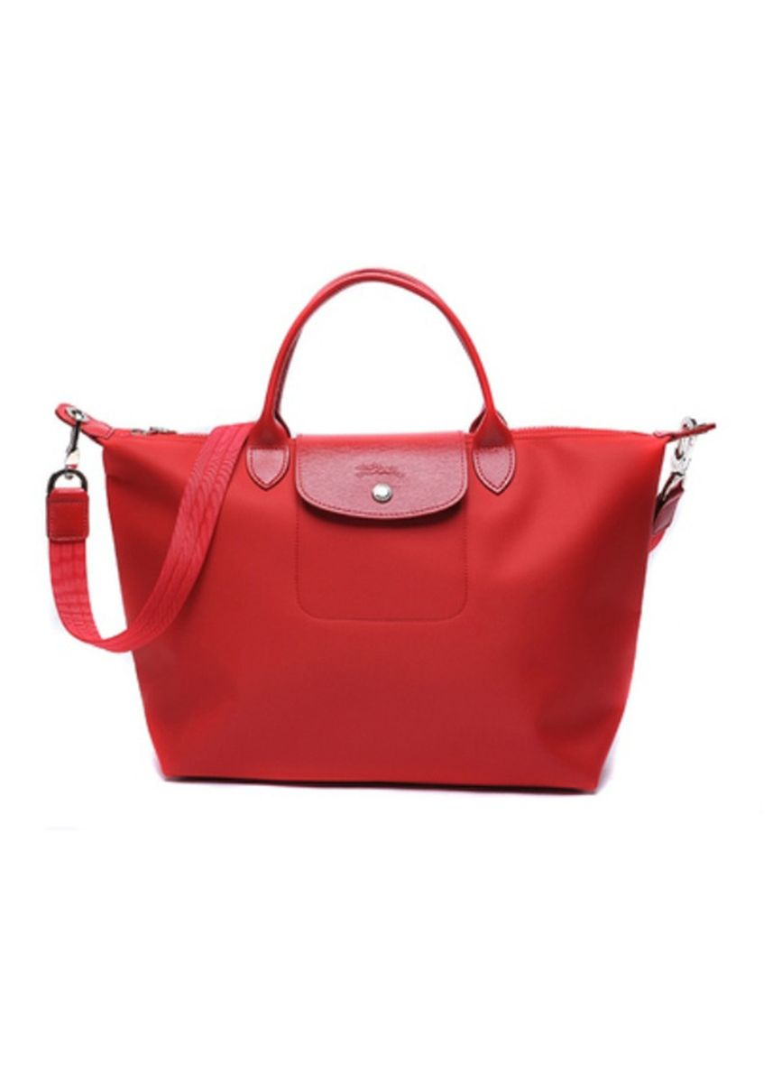 Red color Hand Bags . Long Champ Neo 1515 Medium -