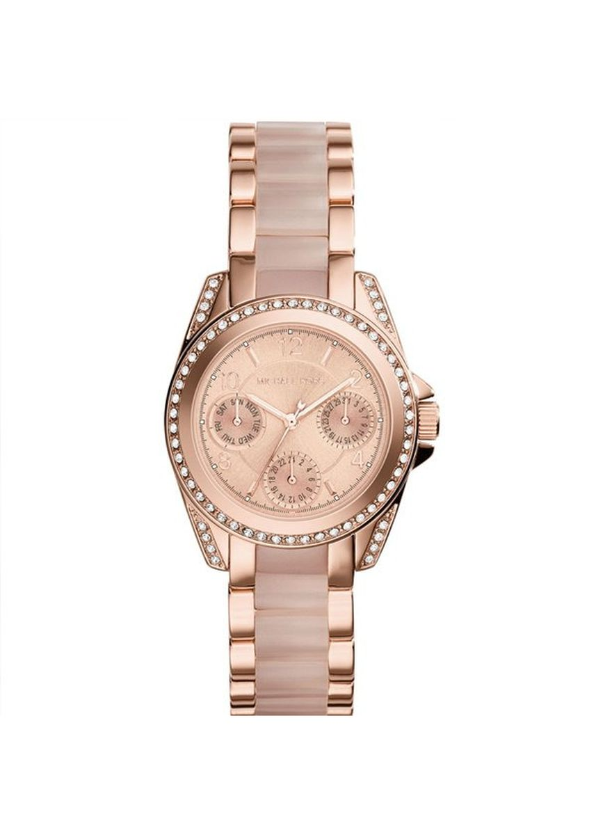 Pink color Analog . 26.Michael Kors Rose Gold Mini Blair Watch MK6175 -