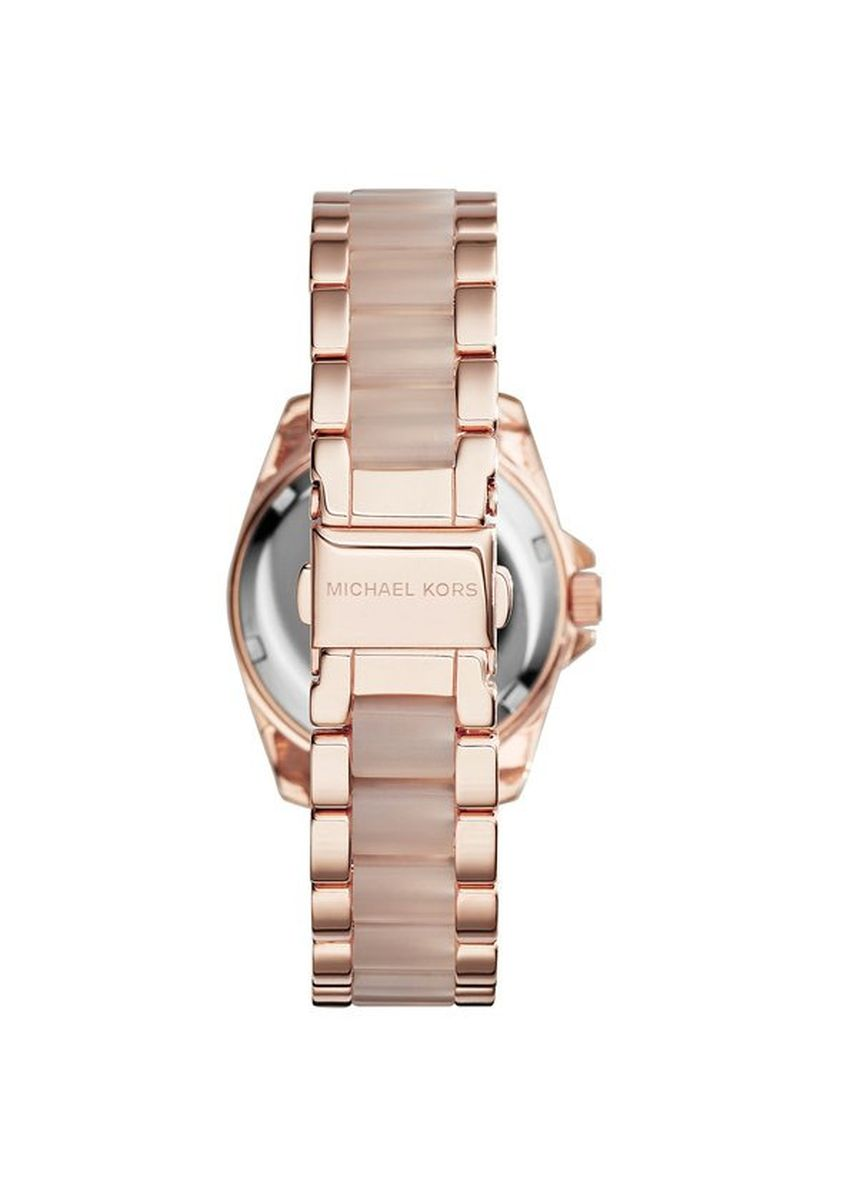ชมพู color อนาล็อก . 26.Michael Kors Rose Gold Mini Blair Watch MK6175 -