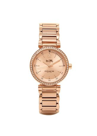 ชมพู color อนาล็อก . 102.Coach Ladies Analog Casual Quartz JAPAN Watch (Imported) 14502200 -