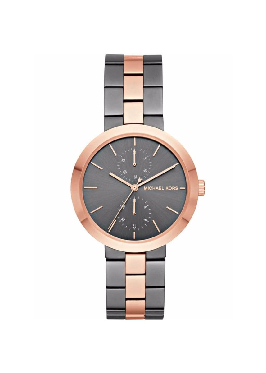Multi color Analog . 92.นาฬิกาข้อมือสุภาพสตรี Michael Kors Women's Garner Grey Rose Gold Watch MK6431 -