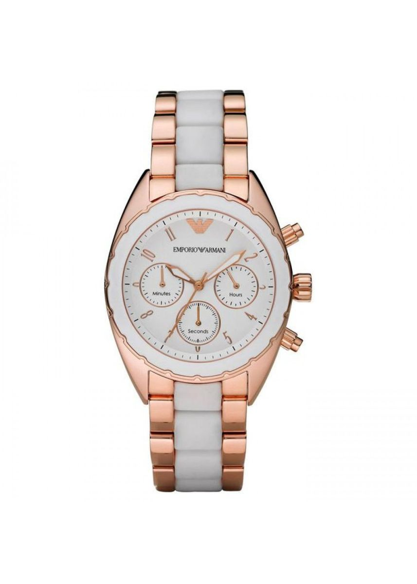 White color Analog . 18.Emporio Armani Ladies' AR5942 Chronograph Sportivo Watch -