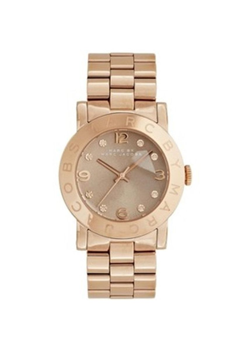 Gold color Analog . 29.MARC BY MARC JACOBS Amy Dexter Wheat Dial Rose Gold-tone Ladies Watch -