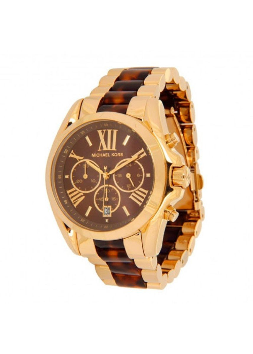 น้ำตาล color อนาล็อก . 78.Michael Kors Bradshaw Burgundy Dial Chronograph Men's Watch mk6269 -