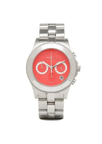 . MARC JACOBS Watch,Blade Silver Tone Chronograph Watch -