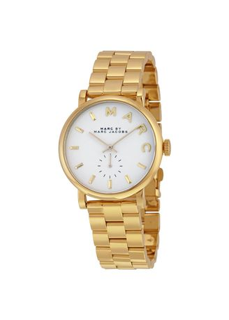 . MARC BY MARC JACOBS White Dial Gold-tone Ladies Watch -