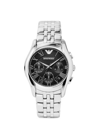 Silver color Digital . Emporio Armani AR1791 Men's Silver Stainless Steel Chronograph Watch -