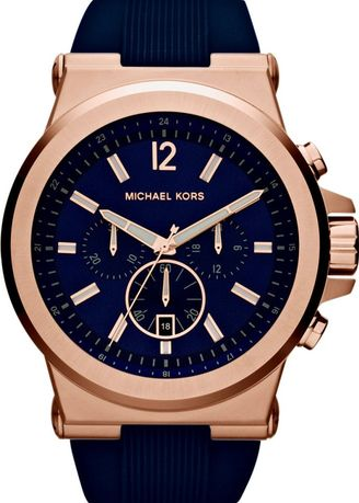f0d73d64085a Michael Kors Dylan Navy Dial Rose Gold-tone Navy Silicone Strap Men s Watch  MK8295