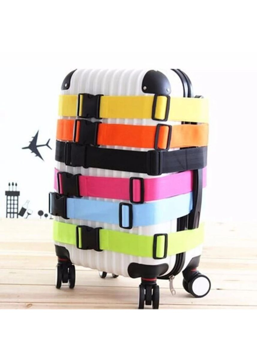 Hitam color Travel Kit . FIRSTPROJECT TALI PENGAMAN PENGIKAT KOPER / LUGGAGE STRAP BELT -
