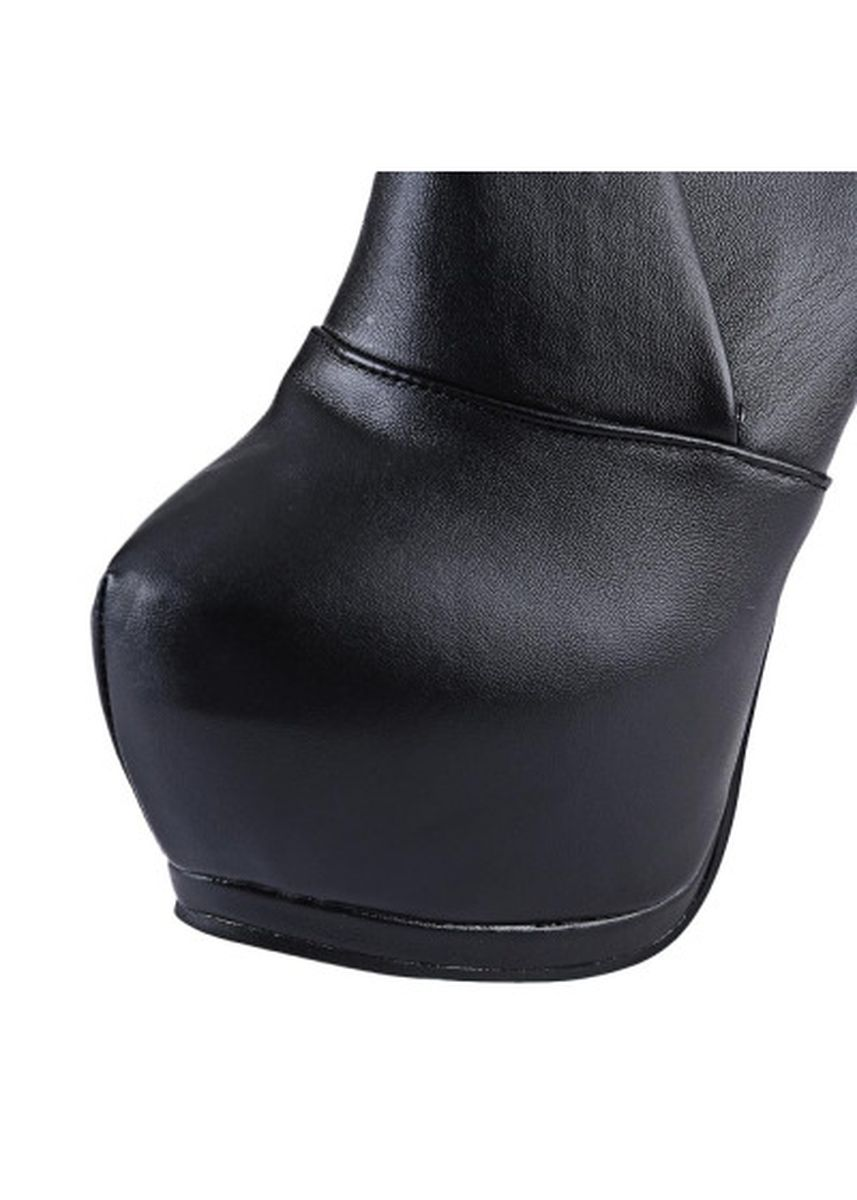 Black color Boots . Stylish Pointed Toe Zipper Design Ladies Thin High Heel Boots -
