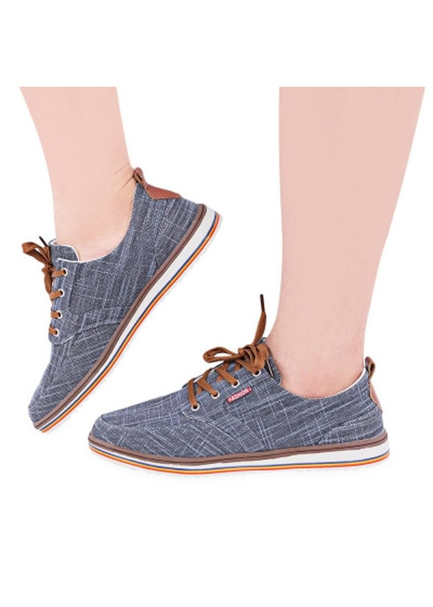 Grey color Casual Shoes . Casual Pure Color Flax Male Breathable Canvas Shoes -