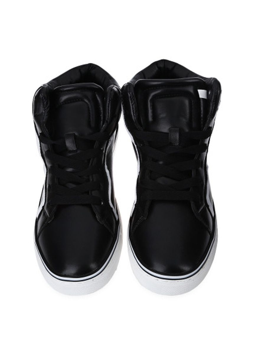 Black color Casual Shoes . Casual Round Toe Lace Up Striped Design Sports Men Shoes -