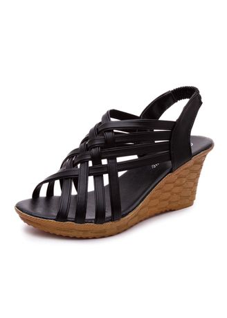 Black color Sandals and Slippers . High Heeled Sandals With Fish Mouth -