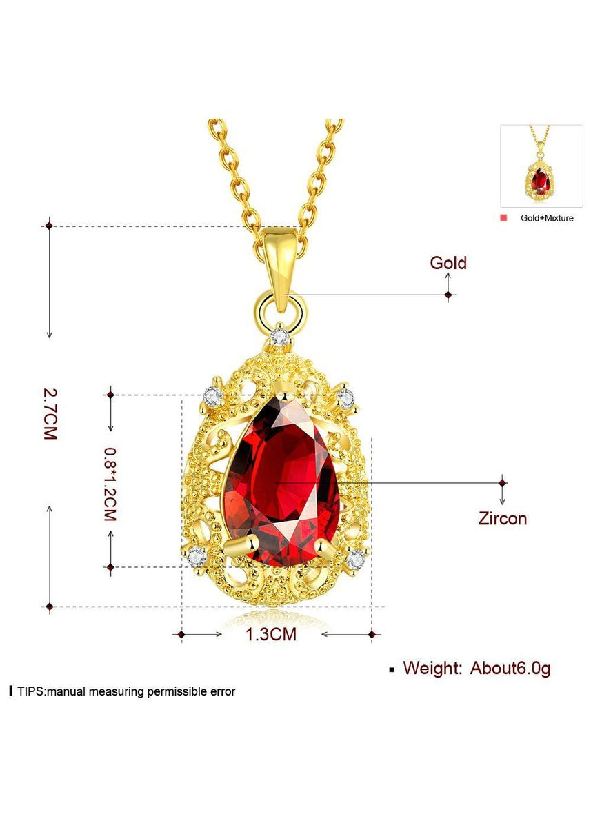 Gold color  . Bella & Co Lady Water Droplets Necklace KZCN108-B Plated Rose Gold Aksesoris Perhiasan Kalung -
