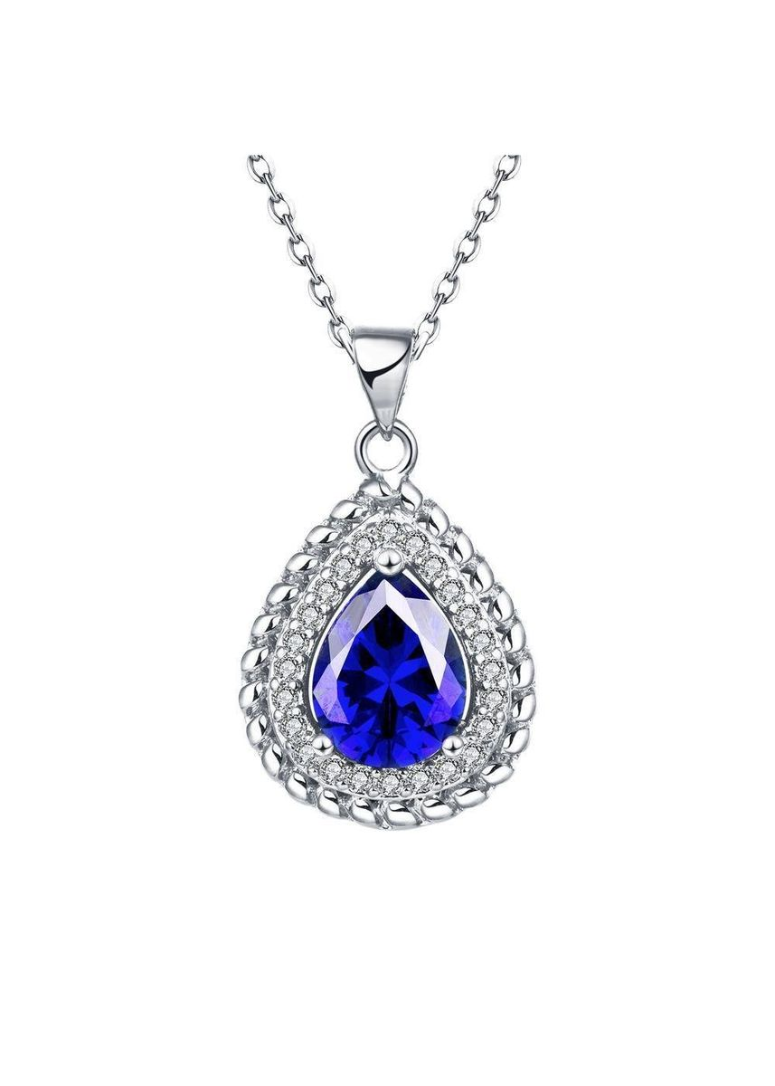 Gold color  . Bella & Co Lady Water Droplets Necklace KZCN063-C White Gold Plated Aksesoris Perhiasan Kalung -
