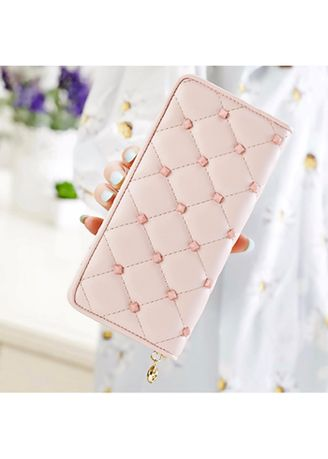 Pink color Wallets and Clutches . KPwallet กระเป๋าสตางค์ตามวันเกิด กระเป๋าสตางค์ผู้หญิง กระเป๋าสตางค์หนัง KW-106 (ชมพู) -