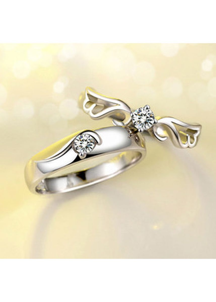 Gold color  . WING LEGACY RING Silver 925 Gold Plated Cincin Tunangan Silver -