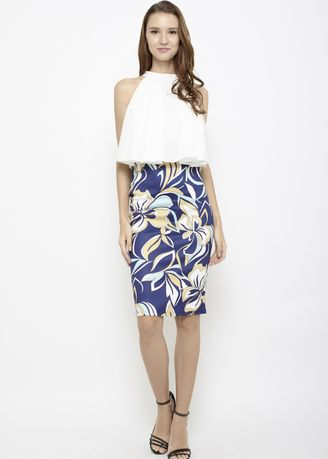 Navy color Skirts . Sun is Up Skirt in Abstract Blue -