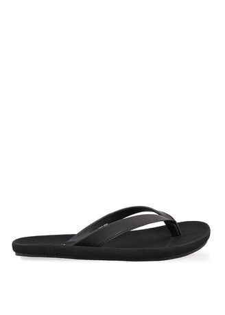 Black color Sandals and Slippers . Basic Faux Leather Sandals -