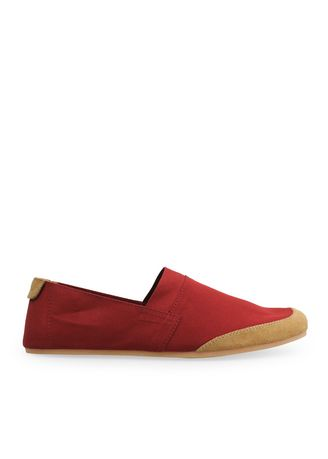 Red color Casual Shoes . Canvas Slip-On NB05 -