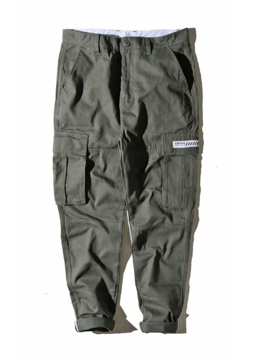 Olive color Casual Trousers and Chinos . Rebel Status Simon Loop Cargo Chinos Pants -
