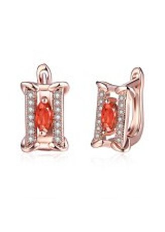 Gold color  . Bella & Co Popular Geometry Ear Clip & Ear Buckle AKE157 Rose Gold Coated Aksesoris Perhiasan Anting -