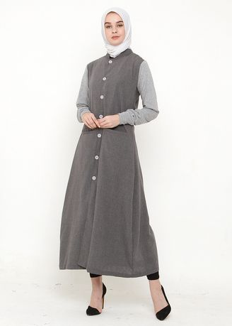 Abu-Abu color Terusan/Dress . CBR SIX Bionda Moslem Dress Grey -