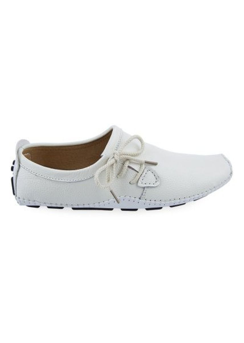 White color Casual Shoes . Casual Solid Color Lace Up Men Driving Leather Flat Shoes -