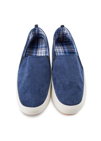 Blue color Casual Shoes . Summer Male Casual Pure Color Slip On Canvas Shoes -