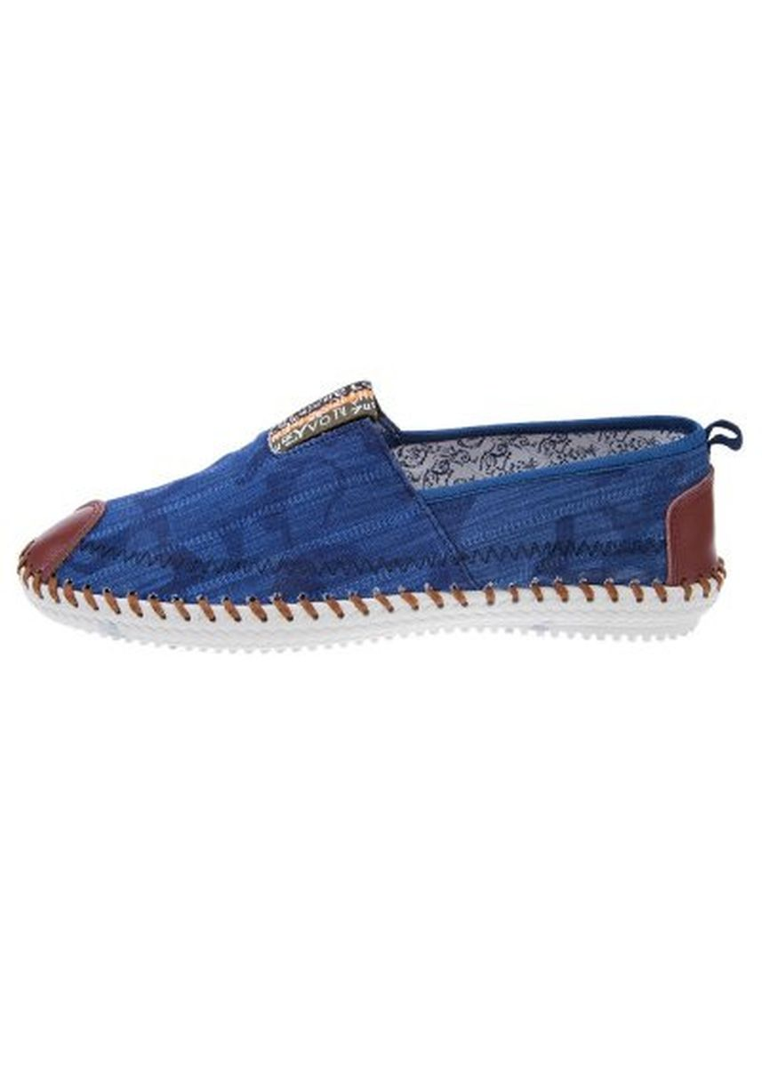 Blue color Casual Shoes . Male Patchwork Hand-stitching Linen Casual Shoes -
