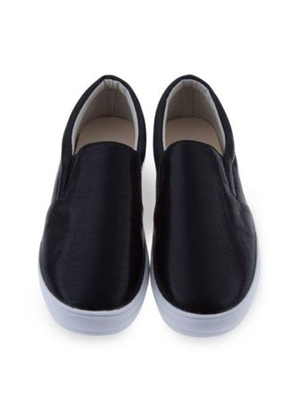 Black color Casual Shoes . Solid Color Ladies Patent Leather Slip On Round Toe Casual Flat Shoes -