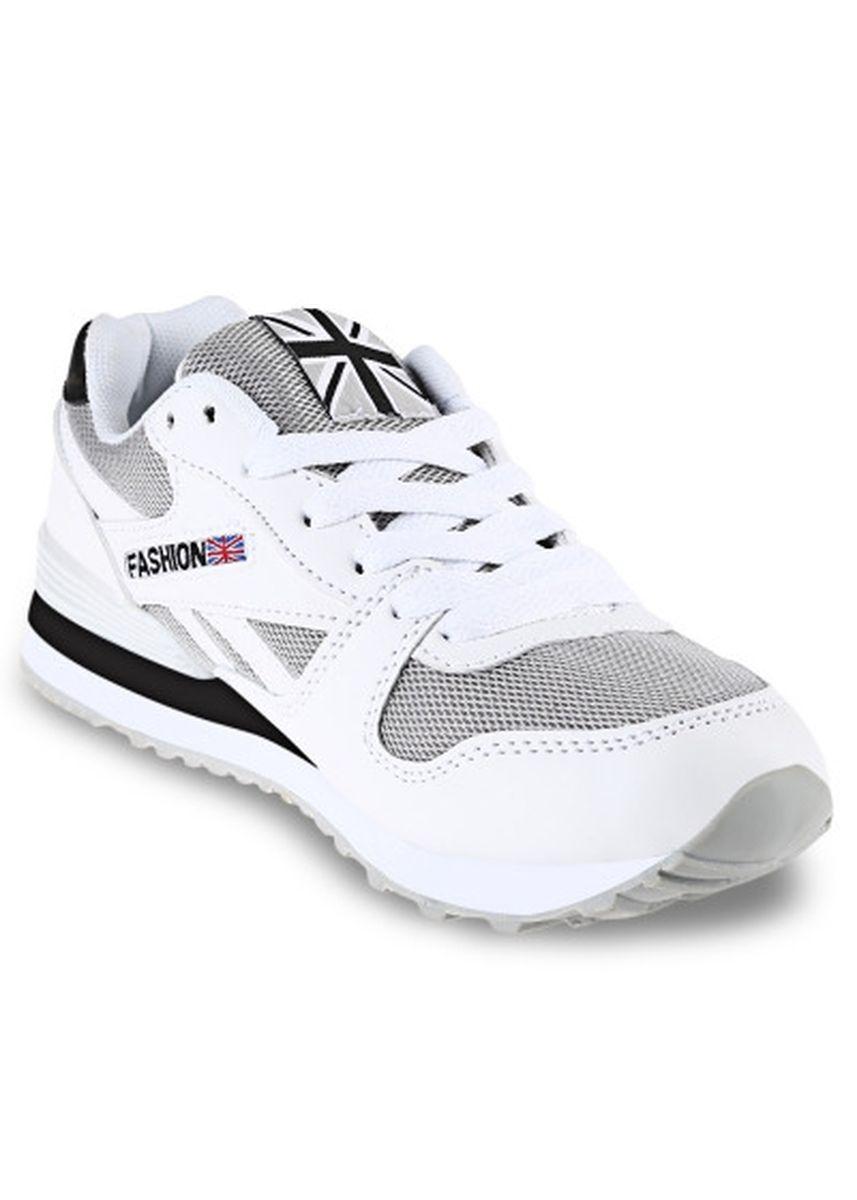 White color Casual Shoes . Breathable Mesh Lace Up Ladies Running Sports Shoes -