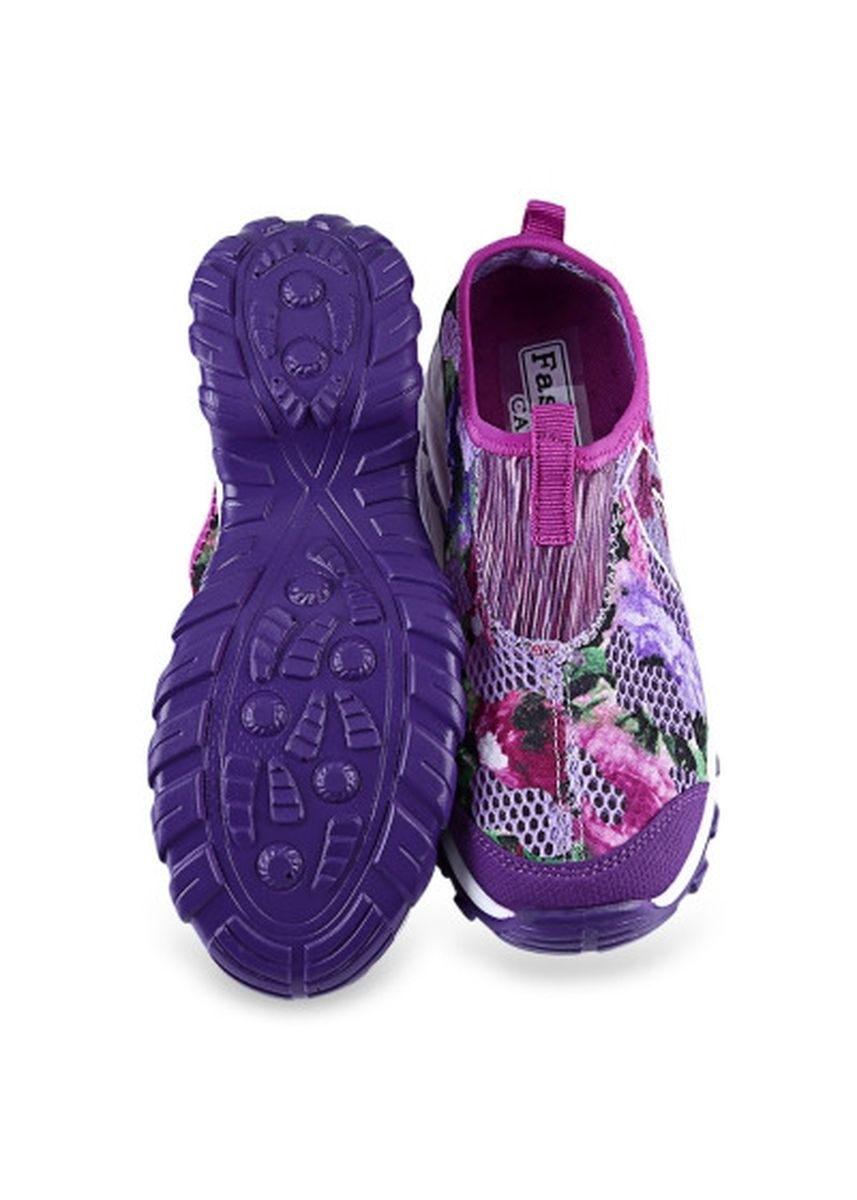 Purple color Casual Shoes . Casual Butterfly Print Mesh Ladies Breathable Platform Shoes -