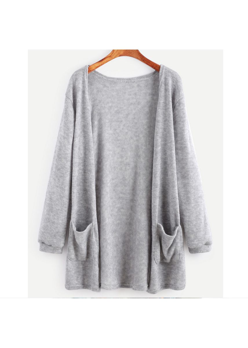 Grey color Jackets . Winter Explosion Knit Cardigan Sweater Girl -