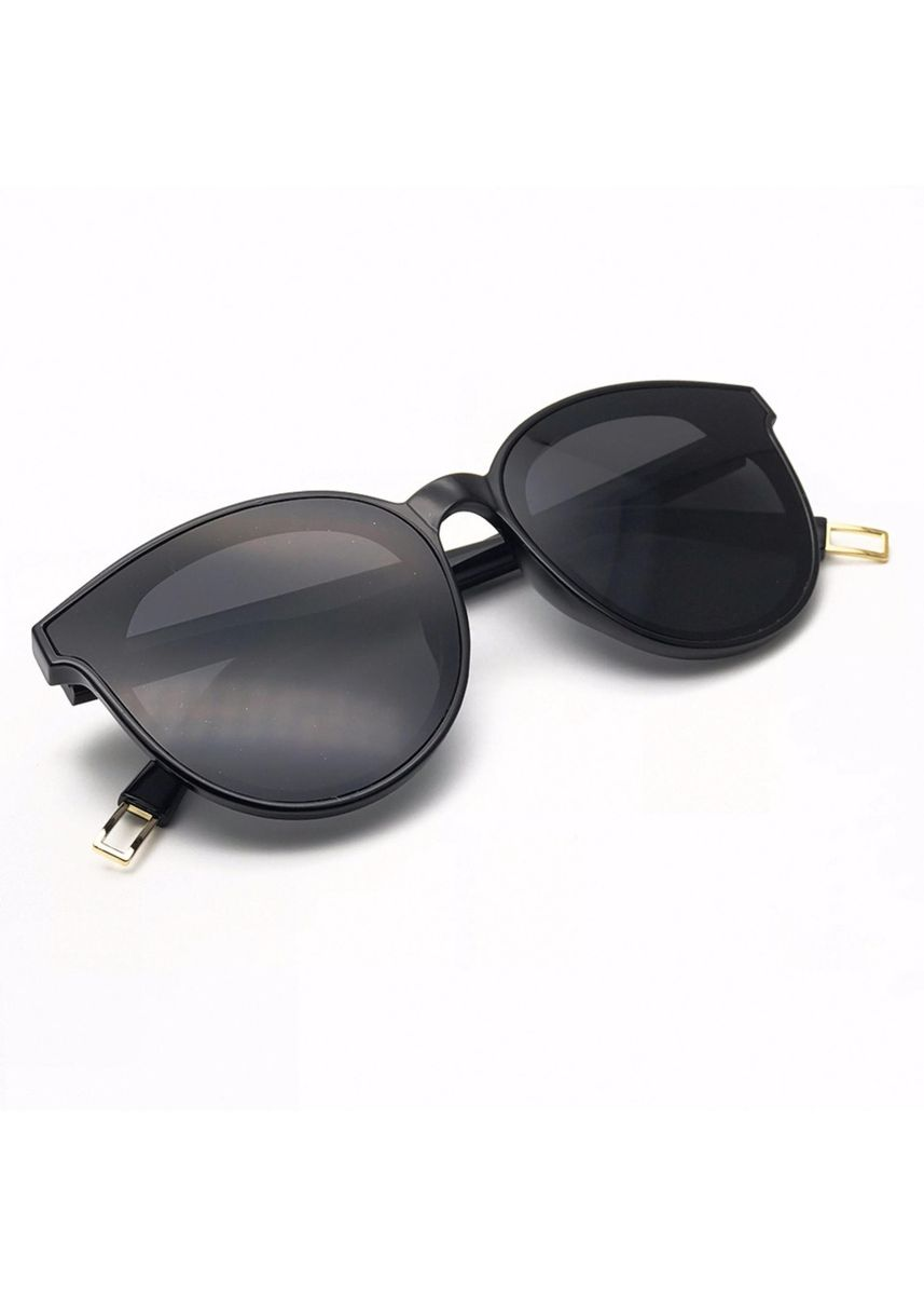 Black color Sunglasses . VINTAGE GLASSES Absente Sunglaeese แว่นตากันแดด รุ่น GMS-333 (Black) -
