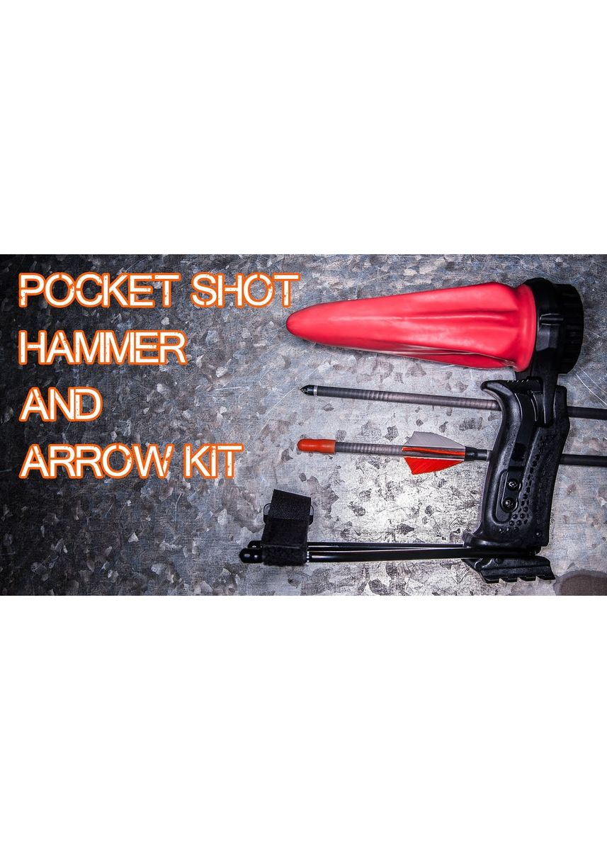 No Color color Camping & Hiking . Pocket Shot - Sling Shot Complete Version with Arrow Shot Kit and Hammer Handle -