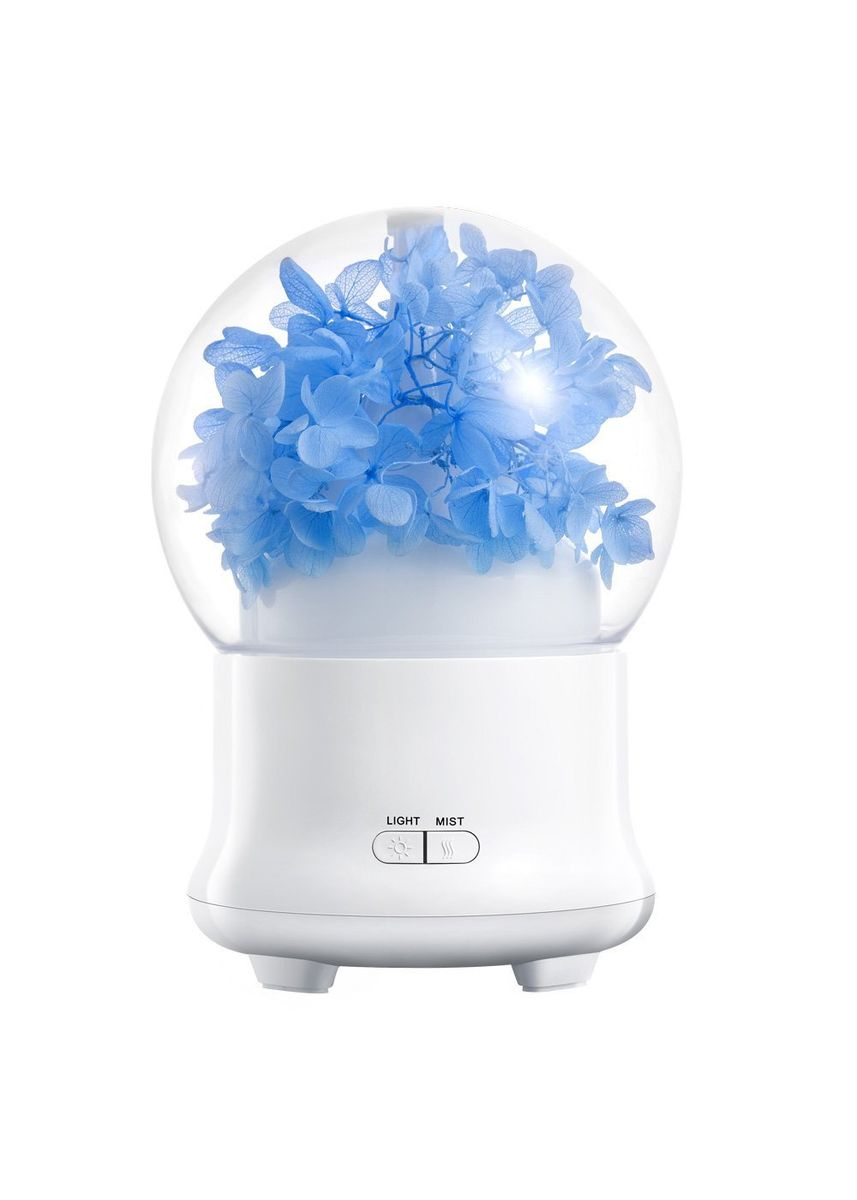 Multi color Home Fragrances . Immortal Etenal Flower Humidifier Elegant Aroma Difusser 7 Color Light LED Lamp - 100ml -