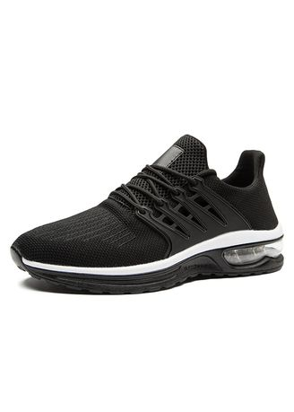 Black color Sports Shoes . Athletic Running Shoes Breathable Sport Air -