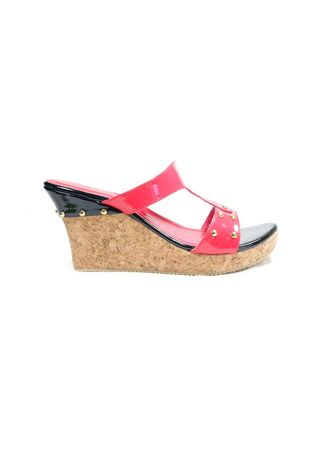 Pink color Heels . Beauty Shoes 971 Wedges Pink -