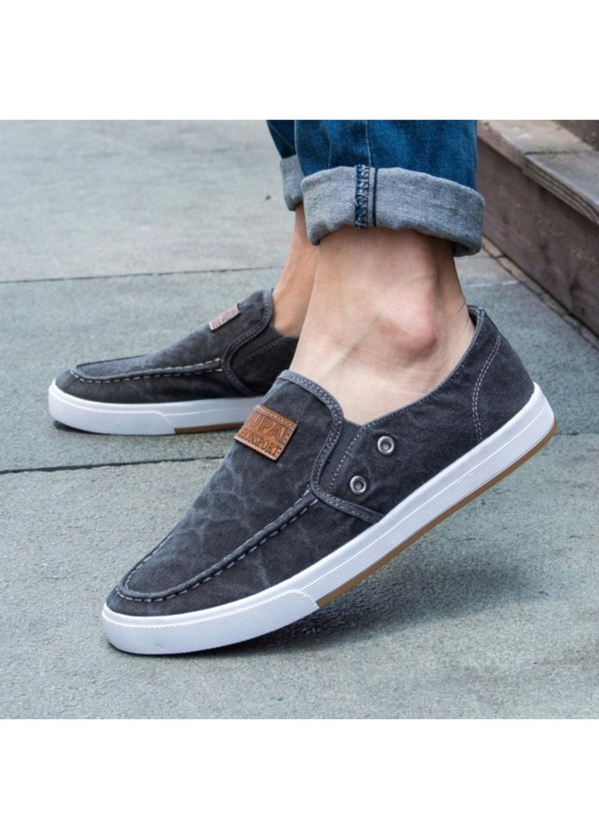 Grey color Casual Shoes . New Casual รองเท้าผ้าใบ รองเท้าผ้าใบผู้ชาย รองเท้าแฟชั่น No.655 (Grey) -