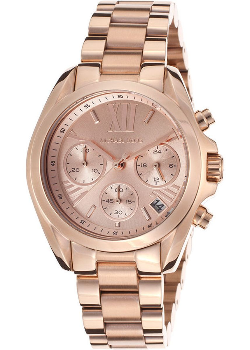 ชมพู color โคโนกราฟ . Michael Kors Women's Watch Stainless Strap MK5799  -