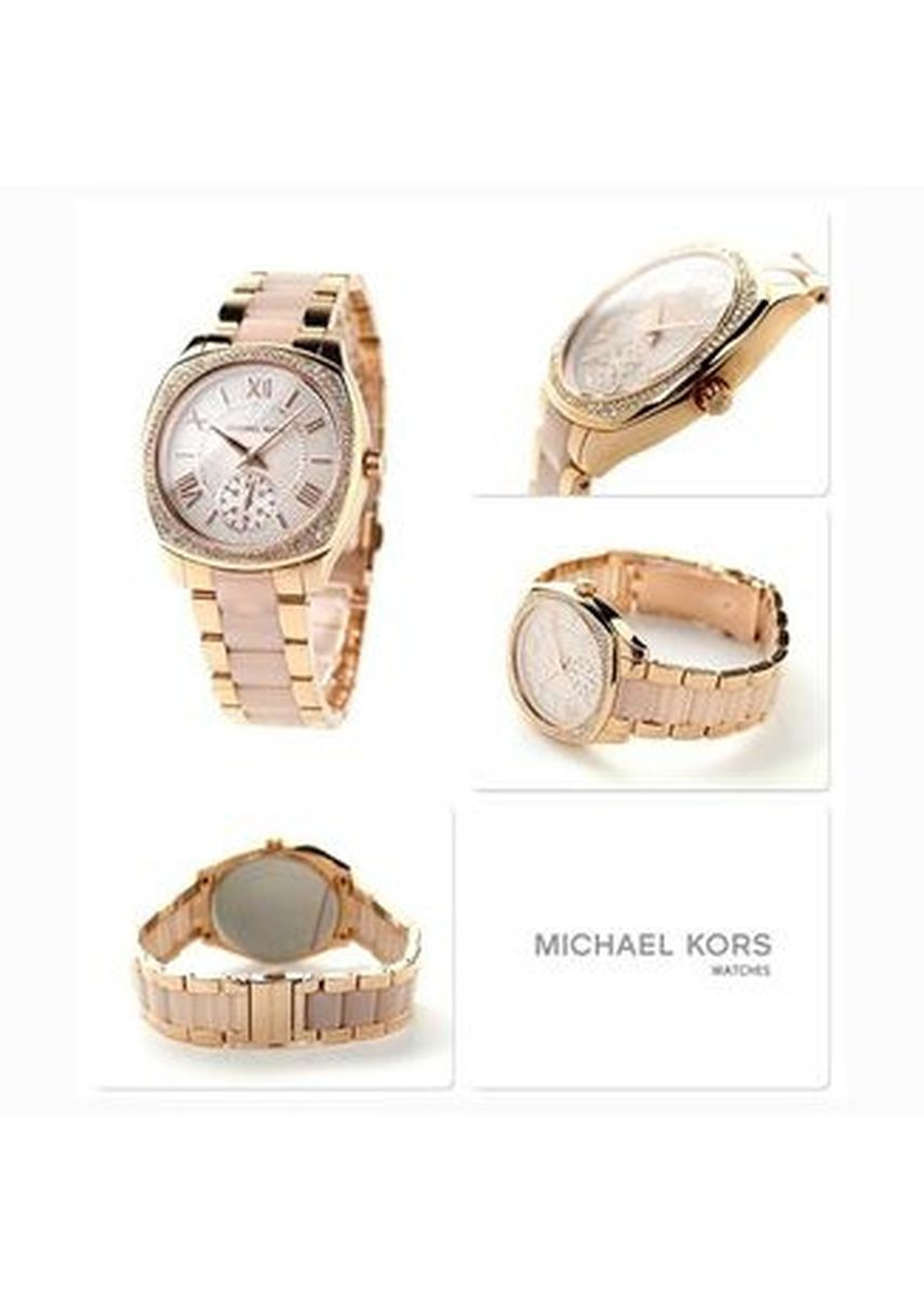 Pink color Analog . MK6135 Michael Kors Watches Bryn Multifunction Stainless Steel Watch -